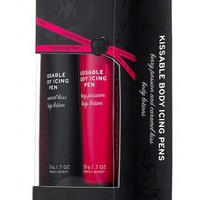 Kissable Body Icing Pen with Berry Passion Body Lotion and Caramel Kiss Body Lotion
