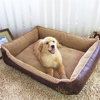 Free Shipping Large Size Plus thick Waterproof large dogs bed House Washable Pet House Teddy&Large  Dog House Big Size Mats