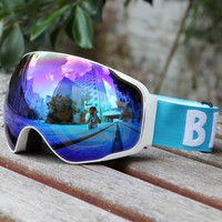 Be Nice Brand Professional snow UV- Protection Multi-Color double anti-fog skiing eye wear Snowboarding skiing Glasses goggles