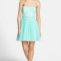 As U Wish Lace Bodice Strapless Fit