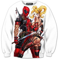 Harley and Deadpool Crewneck
