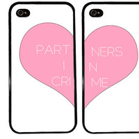 BFF Case / PARTNERS in crime iPhone 4 Case Best Friends iPhone 5 Case iPhone 4S Case iPhone 5S Case One For Your BFF Set Phone Cases Gift