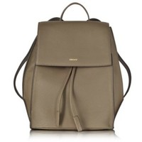 DKNY Designer Handbags Chelsea Khaki Grained Leather Backpack