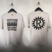 Rage Against the Machine shirt 90s vintage t shirt 90s grunge rock tees tshirt 90s vintage band shirts nuns guns shotguns large