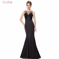 Prom Dresses Ever Pretty HE08358 New Arrival Women Elegant Round Neck Mermaid Maxi Long Summer Style Party Dresses