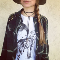 Bolo black genuine real leather indie boho bohemian gypsy western cowgirl knot wrap multi way tie choker lariat necklace
