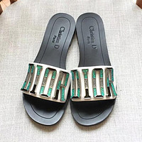 Dior New Popular Woman Leisure Flat Sandals Slipper Shoes