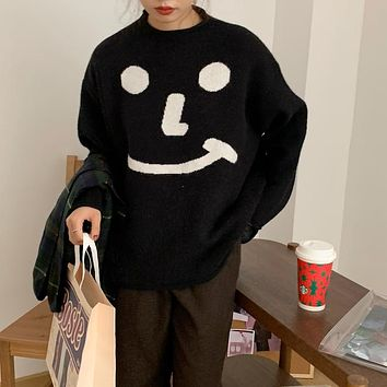 【Final Sale】Oversized Soft Smiley Top
