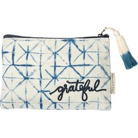 Grateful Indigo Dyes Cute/Cool/Unique Zipper Pouch/Bag/Clutch/Cosmetic Bag