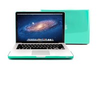 """GMYLE® Turquoise Robin Egg Blue Clear Crystal Frosted Hard Shell Clip Snap On Case Skin Cover for Apple 13.3"""" inches Macbook Pro Aluminum Unibody - With Silicon Turquoise Robin Egg Blue Protective Keyboard Cover - 2 in 1 -"""
