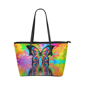 Tote Bags, Vibrant Yellow Butterfly Style Bag