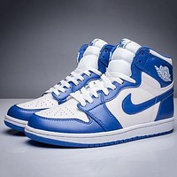 Nike Air Jordan 1 New Colorblock Men'S Sneakers Shoes