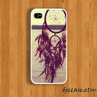 IPHONE 5 CASE - DREAM catcher at the sea side - iPhone 4 case,iPhone 4S case,iPhone caseHard Plastic Case Rubber Case