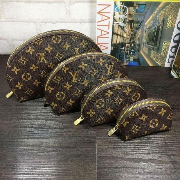 Image of LV Louis Vuitton Cosmetic Bags For Accessories Travel Storage Cosmetic Bag Four Piece Suit