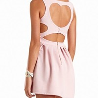 HEART-BACK OTTOMAN SKATER DRESS