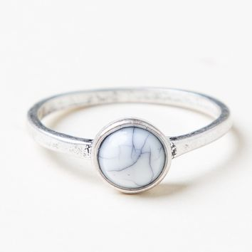 SMALL MARBLE STONE RING