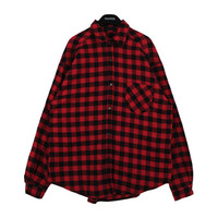 Checkered Shirt with Chest Pocket