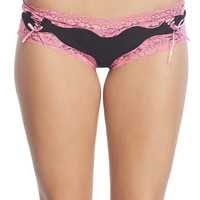 Lace-up Ties Lacy Boyshorts | Wet Seal