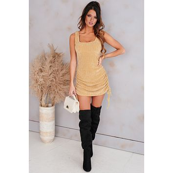 Soul Storm Chenille Knit Mini Dress (Camel)