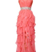 Sunvary 2015 Pleated Chiffon Homecoming Evening Dresses Bridesmaid Gowns