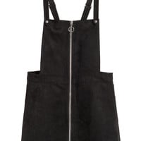 Bib Overall Dress - Black - Ladies | H&M US