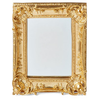 Mirrors, Louis Sweep Accent Mirror, Gold, Small Accent Mirrors