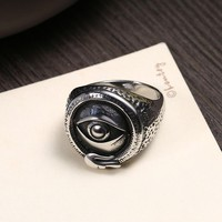 Hemiston Male Ring Stainless Evil Eye Men Ring Personality High Quality Punk Cool Fashion Jewelry for Party R258
