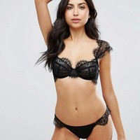 Bluebella Marina Lace Bra & Thong Set at asos.com