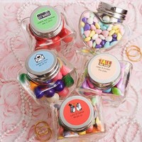 Perfectly Plain Collection Heart Shaped Glass Jars, 1