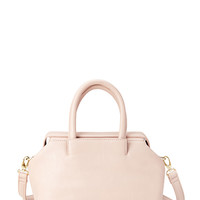FOREVER 21 Classic Faux Leather Mini-Satchel Pink One