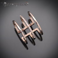 Mid Finger Knuckle Ring 18K Rose Gold Plated Ring