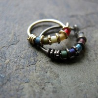 bejeweled-- nose ring or hoop earring-- handmade by thebeadedlily on etsy