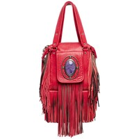Etro Runway Campaign Red Leather Fringe Shoulder Bag, 2008