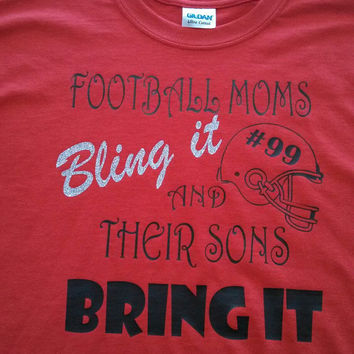 Personalized Football T-Shirt for Mom