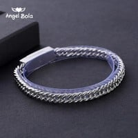 Simple Stainless Steel Chain Buddha Bracelet for Men Buddha Braclets & Bangles Male Female Hip Hop Party Punk Rock Jewelry