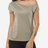 Casual Plain Delightful One Shoulder Casual-t-shirt