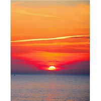 Red Sky Sunset over Beach Wall Mural Decal Sticker #6005
