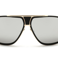 Gold and Gray Square Sunglasses