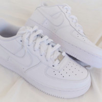 NIKE Air Force Popular Unisex Casual High Tops And Low Help Running Sport Shoes Sneakers F white