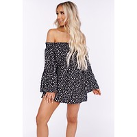 Kiss From Me Off The Shoulder Blouse (Black)