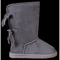 Grey - Bow Suede Boots - F20 - Simply Southern