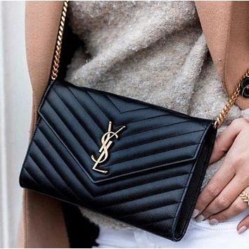 Saint Laurent YSL Leather Chain bag