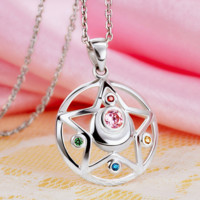 [Sailor Moon] Tsukino Usagi Moon Prism Silver Necklace SP152762