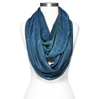 Women's Limited Edition Metallic Woven Oblong Scarf - Blue