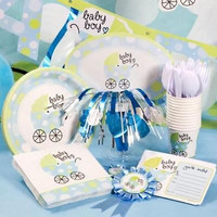 BABY BLUE BOY CARRIAGE BABY SHOWER PARTY items CoMb ShipFirst item, .75 addit