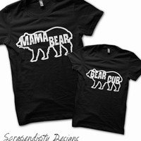 Mama Bear Shirt - Mother Son Shirt / Mothers Day Shirt / Bear Cub Tshirt / Toddler Mothers Day Gift / Womens Camping Tee / New Mom Outfit
