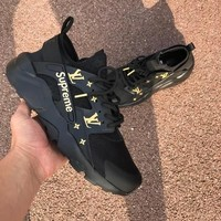SUPREME LV NIKEAIR Huarache Running Sport Casual Shoes Sneakers