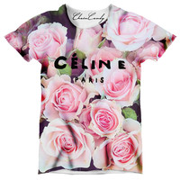 Designer Rose Floral Oversized T-Shirt