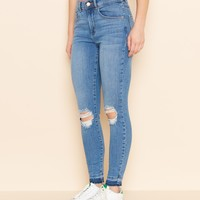 Endless Blue Ankle Retro High Waist Jegging