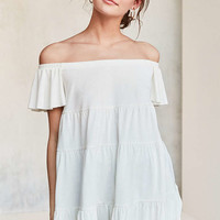 Kimchi Blue Eliza Ruffle Tiered Off-The-Shoulder Tee - Urban Outfitters